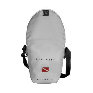 Key West Florida Scuba Dive Flag Messenger Bag