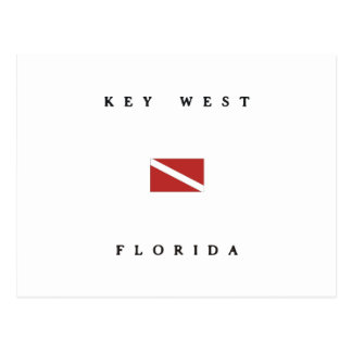 Key West Florida Scuba Dive Flag Postcard