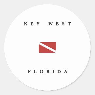 Key West Florida Scuba Dive Flag Stickers