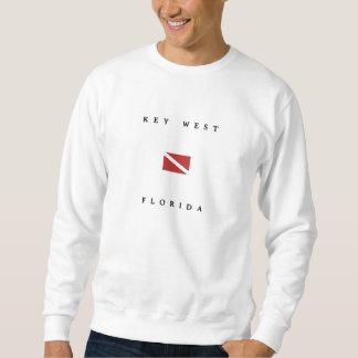 Key West Florida Scuba Dive Flag Sweatshirt