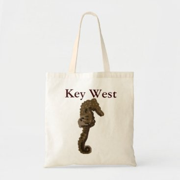Beach Themed Key West Florida Seahorse Tote Bag