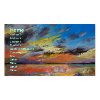 Key West Florida Sunset Business Card
