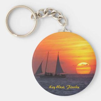 Key West, Florida Sunset Keychain