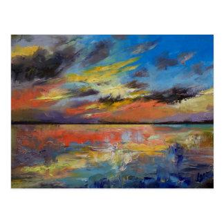 Key West Florida Sunset Postcard