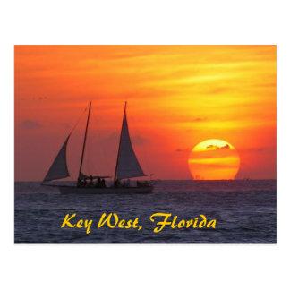 Key West, Florida Sunset Postcard