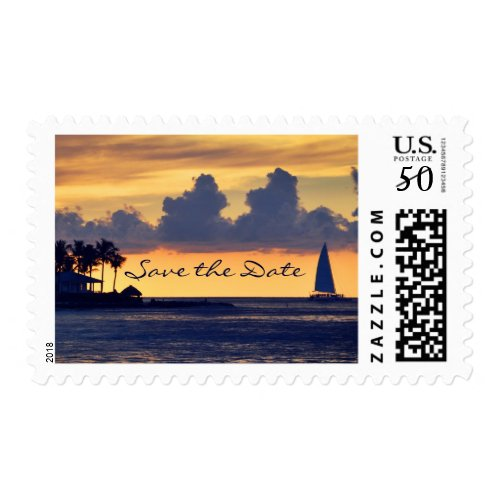 Key West Florida sunset Save the Date Postage