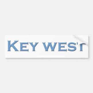 Key West Florida (text logo) Bumper Sticker