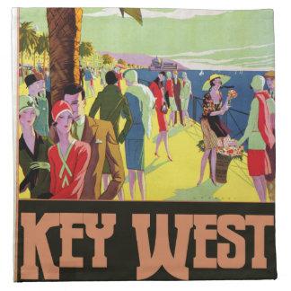Key West Florida Travel Vintage Artwork Napkin