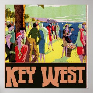 Key West Florida Travel Vintage Artwork Print
