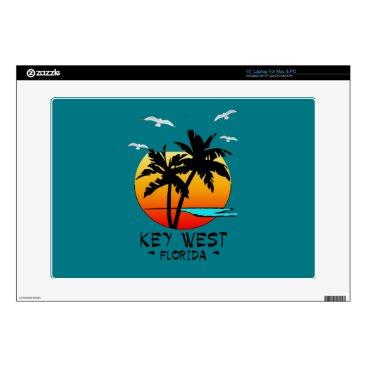 "Beach Themed KEY WEST FLORIDA TROPICAL DESTINATION 15"" LAPTOP DECAL"