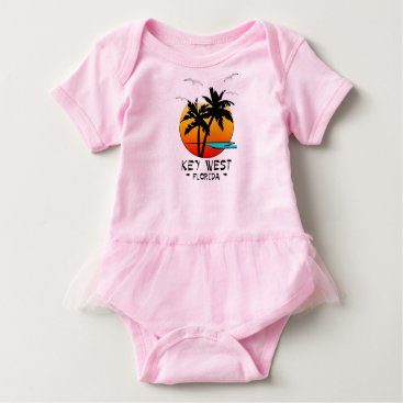 Beach Themed KEY WEST FLORIDA TROPICAL DESTINATION BABY BODYSUIT