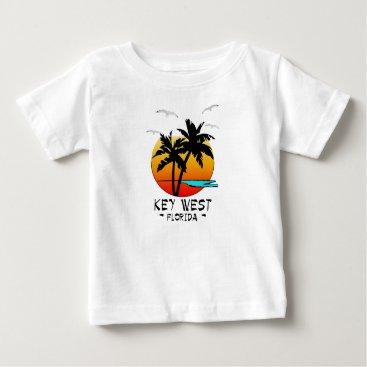 Beach Themed KEY WEST FLORIDA TROPICAL DESTINATION BABY T-Shirt