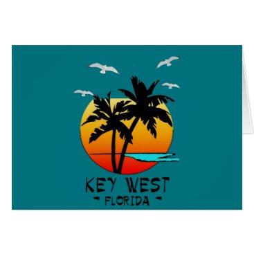 Beach Themed KEY WEST FLORIDA TROPICAL DESTINATION CARD