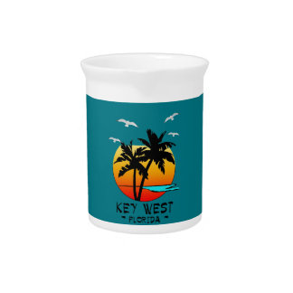 KEY WEST FLORIDA TROPICAL DESTINATION PITCHER