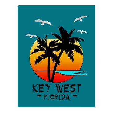 Beach Themed KEY WEST FLORIDA TROPICAL DESTINATION POSTCARD