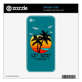 KEY WEST FLORIDA TROPICAL DESTINATION SKIN FOR iPhone 4S