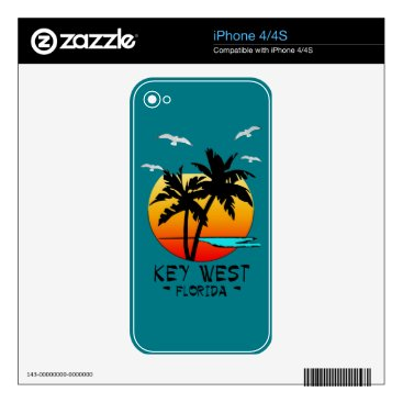 Beach Themed KEY WEST FLORIDA TROPICAL DESTINATION SKIN FOR THE iPhone 4S