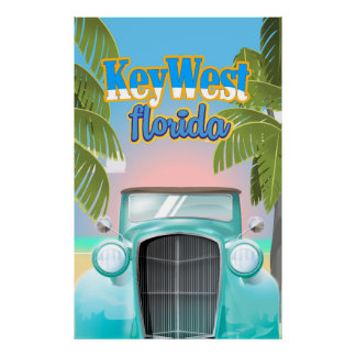 Key West, Florida USA vintage travel poster
