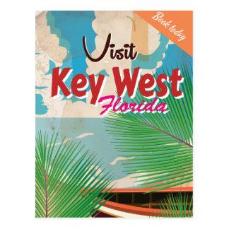 Key West,Florida  Vintage Travel Poster Postcard