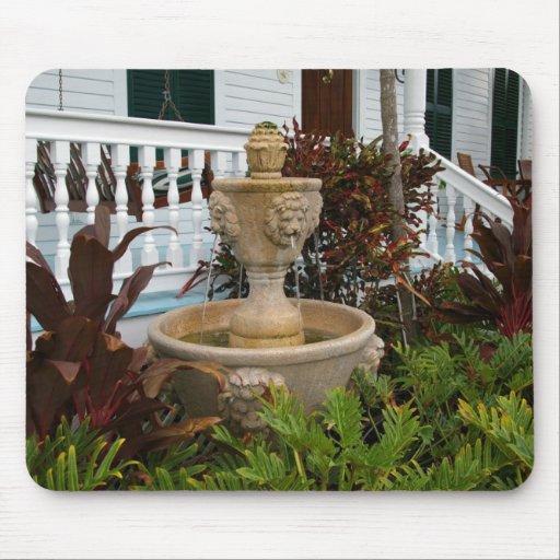 Key West Garden Fountain Mousepad
