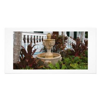 Key West Garden Fountain Photo Card