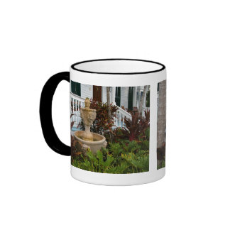 Key West Garden Fountain Ringer Mug