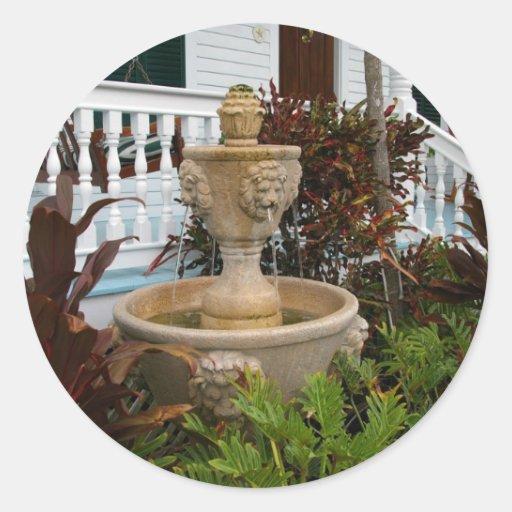 Key West Garden Fountain Sticker