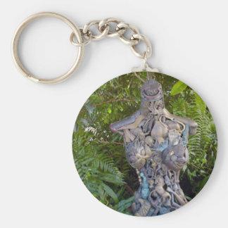 Key West Garden Sculpture Keychain