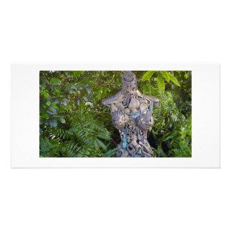 Key West Garden Sculpture Photo Card