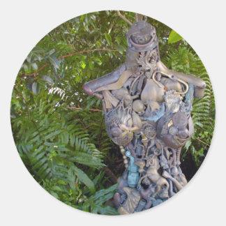 Key West Garden Sculpture Sticker