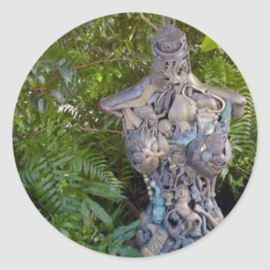 Key West Garden Sculpture Sticker