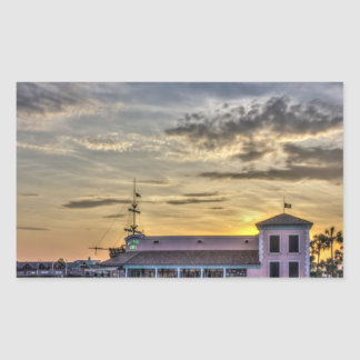 Key West Grill Sunset Rectangular Sticker