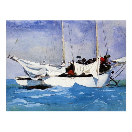 Key West, Hauling Anchor by Winslow Homer Postcard