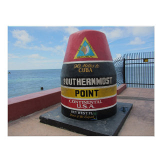 Key West Historic Southernmost Point Buoy Poster