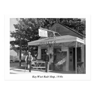 Key West hostiga la tienda, los años 30 Postal