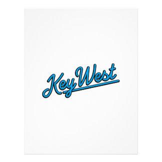 Key West in cyan Customized Letterhead