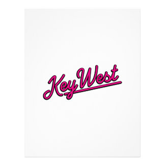 Key West in magenta Custom Letterhead