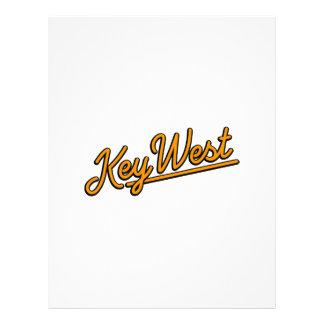 Key West in orange Letterhead Design