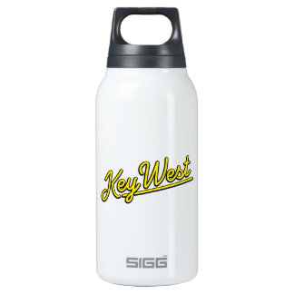 Key West in yellow Insulated Water Bottle