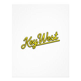 Key West in yellow Letterhead Design