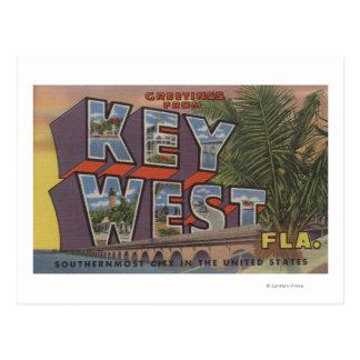 Key West, la Florida - escenas grandes de la letra Tarjetas Postales