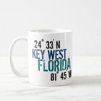 Key West Latitude Classic White Coffee Mug