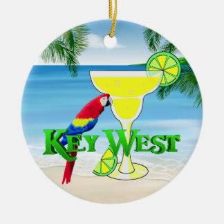 Key West Margarita Ceramic Ornament
