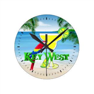 Key West Margarita Round Clocks