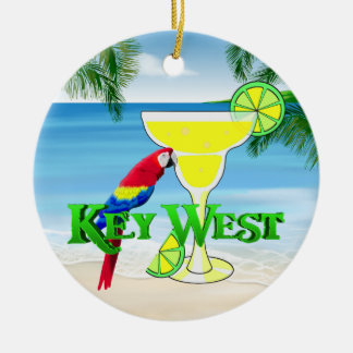 Key West Margarita Double-Sided Ceramic Round Christmas Ornament