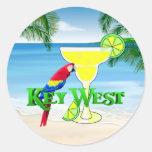 Key West Margarita Pegatina Redonda