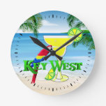 Key West Margarita Reloj Redondo Mediano