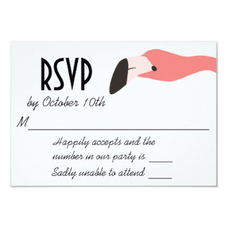 Key West Modern Whimsy RSVP Card