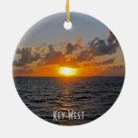 Key West, ornamento de la Florida Adorno Navideño Redondo De Cerámica
