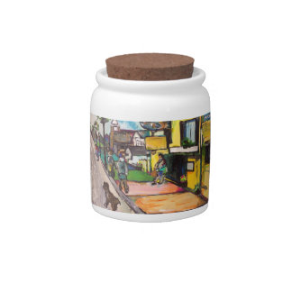 Key West Painting Candy Jar